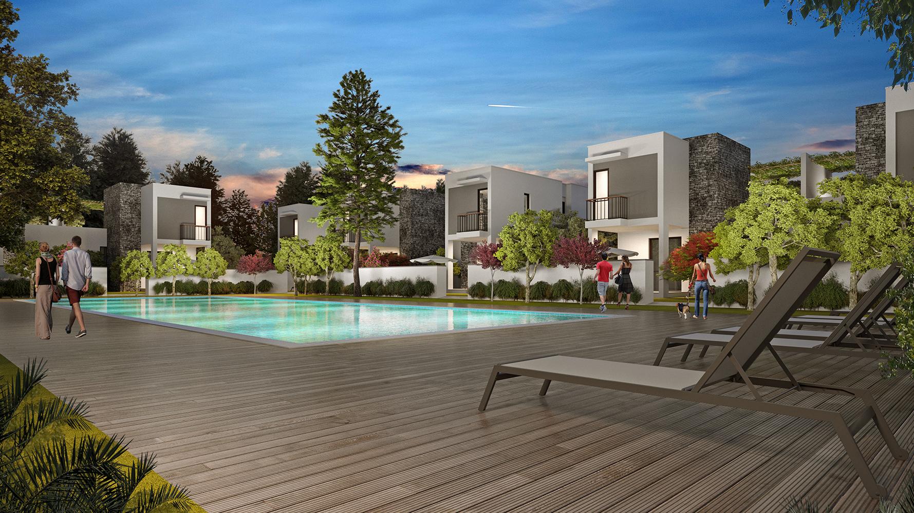 Bodrum Akyarlar  Satılık Sıfır Villa-Özel Plaj-Havuzlu Güvenlikli