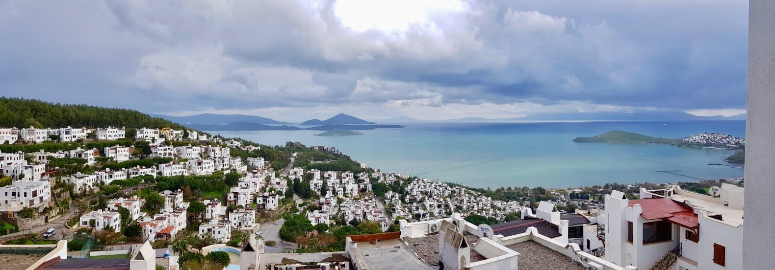 Bodrum Ortakent Satılık Müstakil Villa-Özel Plaj-Deniz Manzaralı