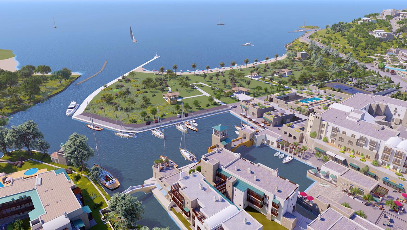 Bodrum Denize Sıfır Satılık Lüks Villa-Daire-Özel Plaj-Yaşam Alanı