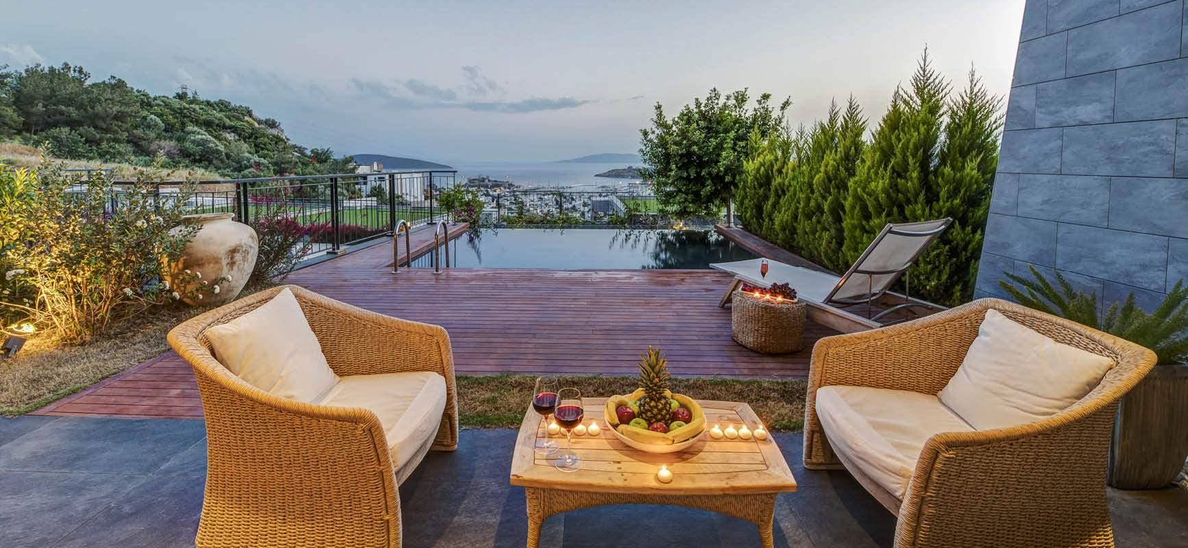 Bodrum Satılık Deniz Manzaralı Lüks Villa-Müstakil Bahçe-Özel Tasarım