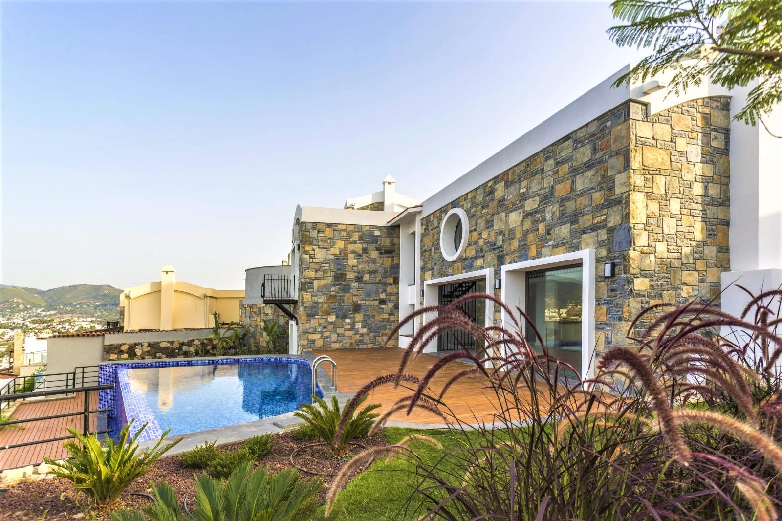 Bodrum Yalıkavak Satılık Müstakil Sıfır Villa-Özel Tasarım-Deniz Manzaralı